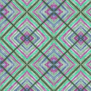 Big black and purple Square by Sara Aurora Waters