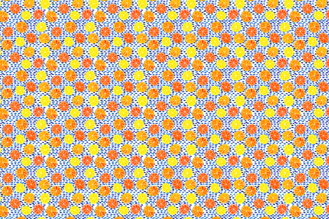 Citrus on Cobalt Dots fabric by natalievmason on Spoonflower - custom fabric