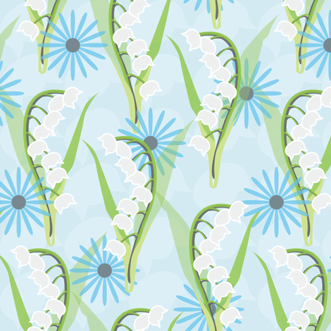 Lily of the Valley fabric by lilcubby on Spoonflower - custom fabric