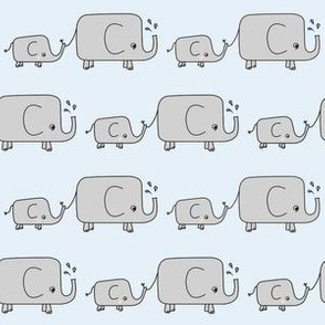 Elephants // blue grey baby mum animal savannah