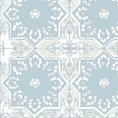MOROCCAN TILE EUCALYPTUS WHITE DOVE