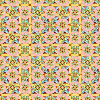 Heraldic Pink Polka Dots