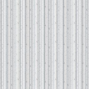 Birch Trees Gray on White Background