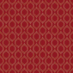 gold leaf Royal Chic Quatre red