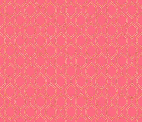 Gold Coral Quatre fabric by juliepitts on Spoonflower - custom fabric