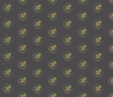 Bee Golden on bias fabric by bashfulbirdie on Spoonflower - custom fabric