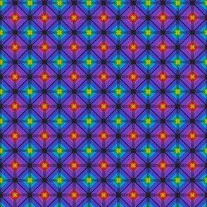 Fibonacci Diamonds Black