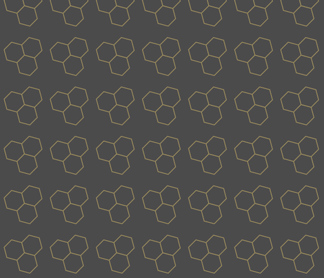 Bee Hive fabric by bashfulbirdie on Spoonflower - custom fabric