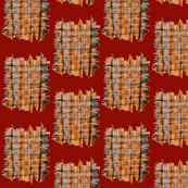 Cat Scratch Mats on Brick Red - Medium Scale