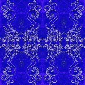 Mermaid Circus Batik-blue