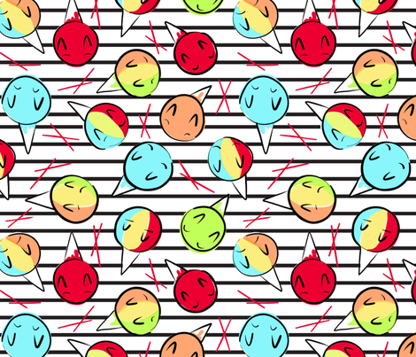 shave ice stripes fabric by kauaidrygoods on Spoonflower - custom fabric