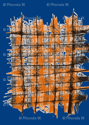 Cat Scratch Mats on Royal Blue - Medium Scale