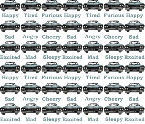 Many Faces of Baby - Number 2 fabric by sharksvspenguins on Spoonflower - custom fabric