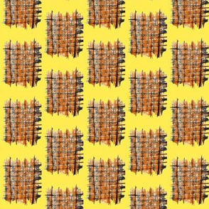 Cat Scratch Mats on Sunny Yellow - Small Scale