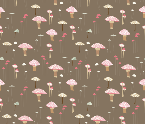 Mushrooms fabric by vieiragirl on Spoonflower - custom fabric