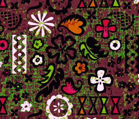 Modern Tapa 5b fabric by muhlenkott on Spoonflower - custom fabric