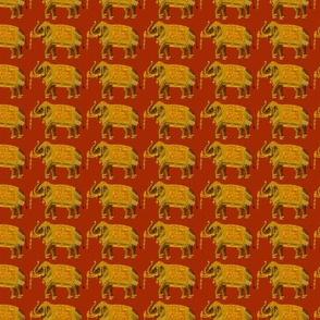 Indian Elephants on Parage on Wine