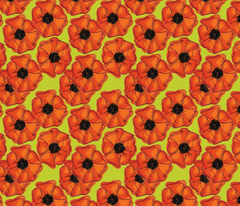 Poppy Fun fabric by lucyjunedesigns on Spoonflower - custom fabric