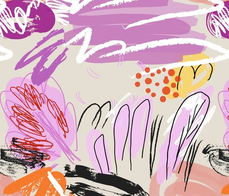 Abstract_sketched_garden_trees_purple_cream_shop_preview