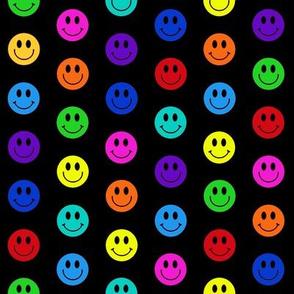 smiley dots multicolored 1 inch