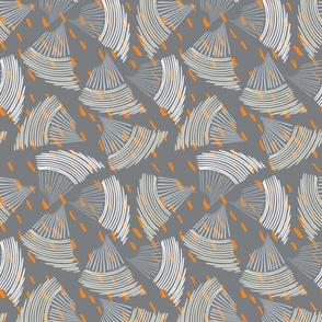 Abstract sea shell dark gray textured