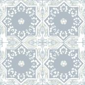 MOROCCAN EUCALYPTUS GRAY WHITE DOVE