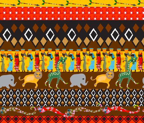 African Stripes fabric by orangefancy on Spoonflower - custom fabric