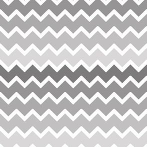 Grey Gray Ombre Chevron