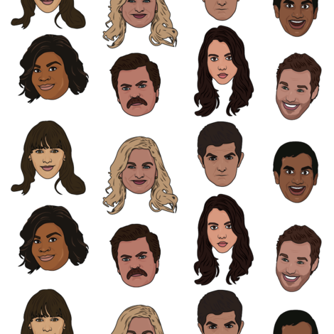 Parks & Rec fabric by emilybr0 on Spoonflower - custom fabric