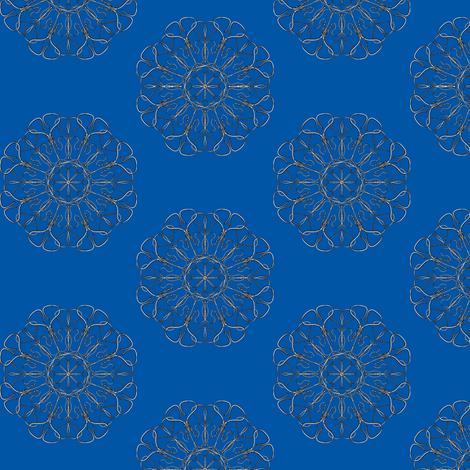 Hard-Wired Hearts on Ocean Blue fabric by rhondadesigns on Spoonflower - custom fabric