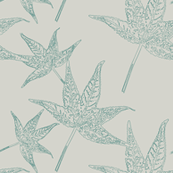 Sweetgum Leaves // Gothic Blue