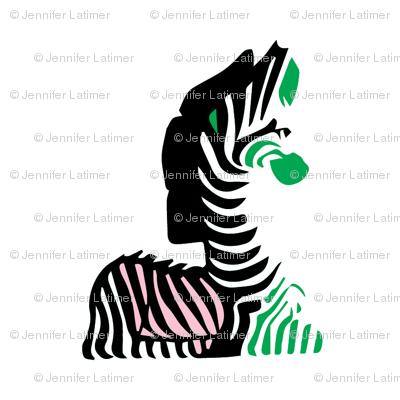 Pink Black Kelly Green Zebra