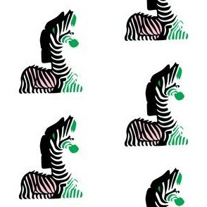 Pink Black Kelly Green Zebra