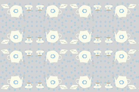 Tea Time mirror fabric by delfine on Spoonflower - custom fabric