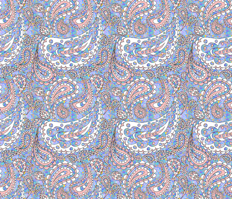 Paisley Doodle (Patterned) fabric by esheepdesigns on Spoonflower - custom fabric