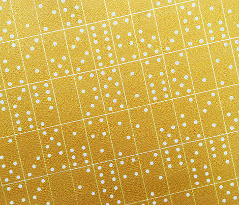 Domino Universe* (Gold Marilyn) || dominoes game geometric polka dots kids children mustard