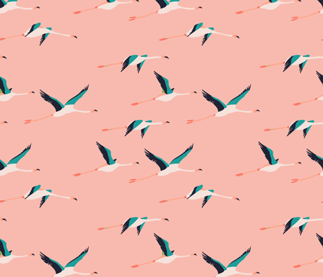 flamingo_coastal fabric by holli_zollinger on Spoonflower - custom fabric