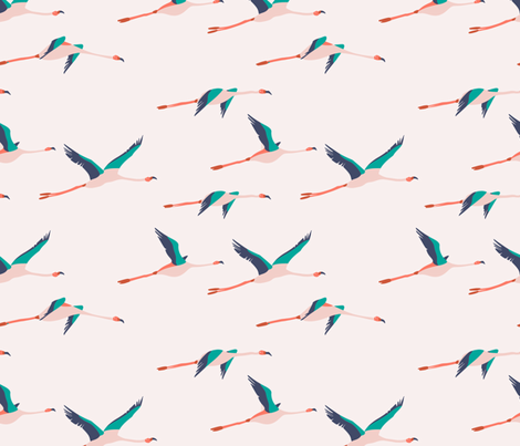 flamingo_peach fabric by holli_zollinger on Spoonflower - custom fabric
