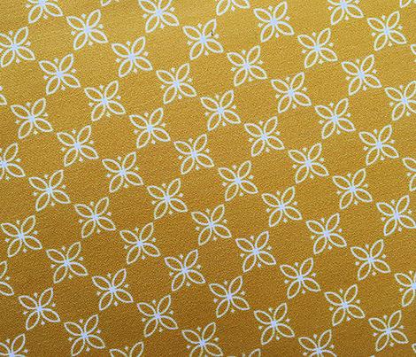 Fire King Flower* (Gold Marilyn) || floral flowers vintage kitchen farm feedsack feed sack picnic geometric garden check mustard