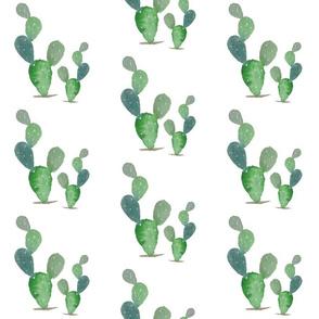 Watercolor mama and baby cactus