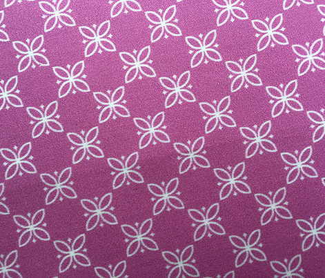 Fire King Flower* (Pink Liza) || floral flowers vintage kitchen farm feedsack feed sack picnic geometric garden check
