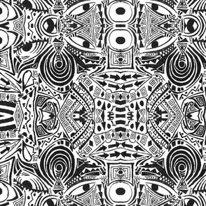 Cubo-Modernist Face Mudcloth