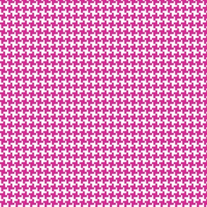 Houndstooth* (Pink Riot) || geometric midcentury modern 60s 1960s sixties mod