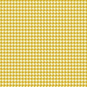 Houndstooth* (Gold Marilyn) || geometric midcentury modern 60s 1960s sixties mod mustard