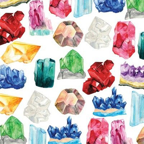 Watercolor gemstones/birthstones pattern