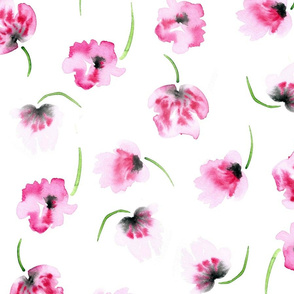 {Pink Poppies Floral}