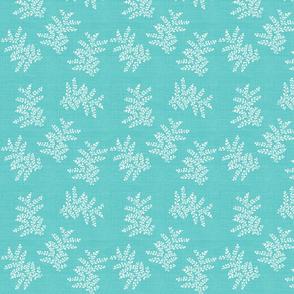 Delicate Fern II in Turquoise