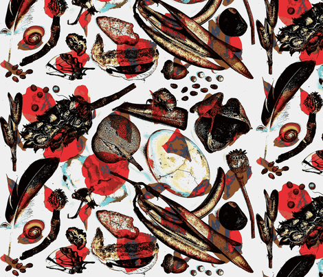 Curiosities and Petals fabric by holiday on Spoonflower - custom fabric