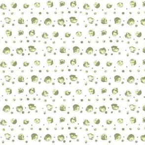 watercolor dots in greens