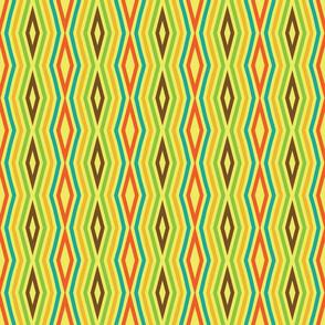 1960s Diamond Stripes